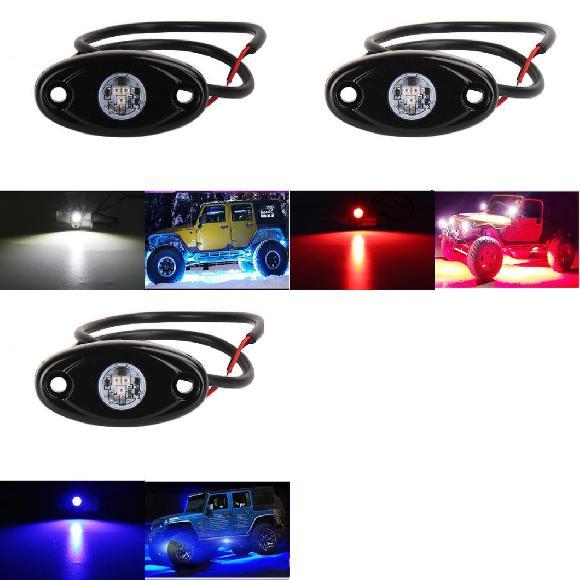 オフ-ロード 8ピース ネオン ロック 2V ライト 24V AL-KK-2502 9W ライト アンダー ホイール ライト ボート ユニバーサル ホワイト~グリーン ジープ/JEEP 適用: LED ロック バー AL アンダー LED 4X4