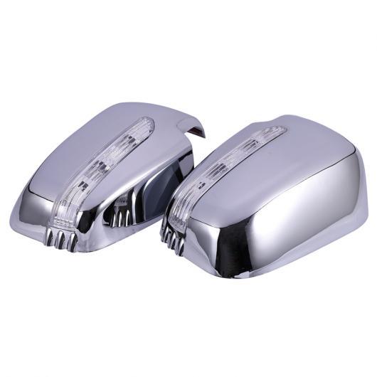 【有名人芸能人】 AL ドア ミラー カバー LED 適用: 三菱 トライトン L200 2005-2014 パジェロ スポーツ 2011 シルバー AL-KK-1578, 越前町 f9ed6cc2