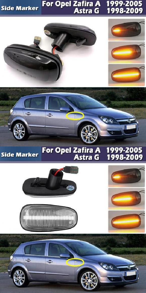 送料無料! AL LED ダイナミック ターンシグナルライト サイドマーカー ランプ ライト 適用: オペル/OPEL ザフィーラ A 1999-2005 アストラ G 1998-2009 キャデラック/CADILLAC STS 2005-2011 スモーク・クリア AL-MM-5825