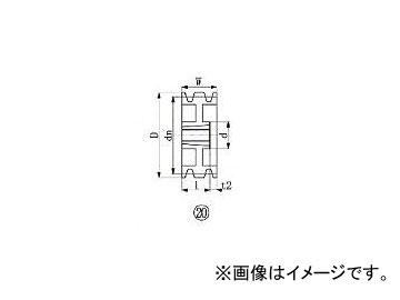 エバオン/EVERON ブッシングプーリー SPB 250mm 溝数3 SPB2503(3806511) JAN:4571314380059