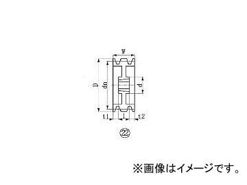 エバオン/EVERON ブッシングプーリー SPA 224mm 溝数3 SPA2243(3805654) JAN:4571314378360