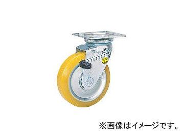 シシクアドクライス/SISIKU 静電気帯電防止キャスター 自在ストッパー付 150径 ウレタン車輪 EUWJB150(3535096) JAN:4537657106398
