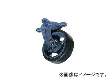 京町産業車輌/KYOMACHI 鋳物製自在金具付ゴム車輪(幅広) AHJ300X100