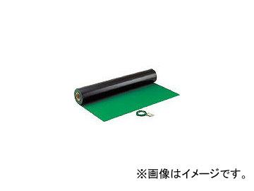 ホーザン/HOZAN 導電性カラーマット 1×10M グリーン 補強繊維入り F79(2218135) JAN:4962772090794