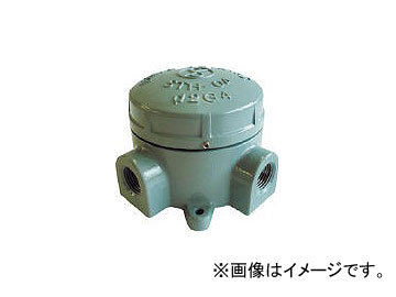 島田電機/SHIMADA アルミニウム合金鋳物 耐圧防爆構造ターミナルボックス(四方向) STH04X22(2813106) JAN:4571187860146