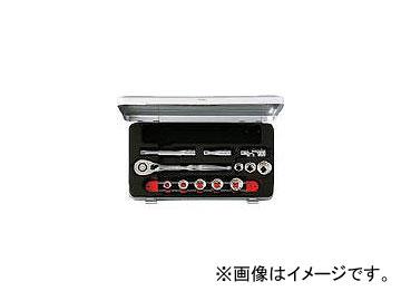 京都機械工具/KTC 9.5sq.ソケットレンチセット[12点] TB308BX(3839290) JAN:4989433133362