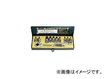 旭金属工業/ASAHI ソケットレンチ用ヘキサゴンソケットセット12.7□ VX4000(3767582) JAN:4992676023468