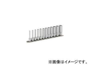 前田金属工業/TONE ディープソケットセット(6角・ホルダー付) 12pcs HSL212(3956393) JAN:4953488193428