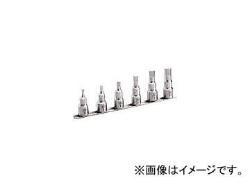 前田金属工業/TONE SUSヘキサゴンソケットセット(ホルダー付) 6pcs SHH406(3877213) JAN:4953488263244