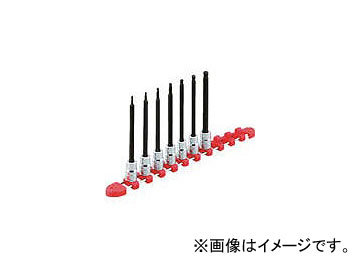 京都機械工具/KTC 9.5sq.ロングヘキサゴンビットソケットセット[9コ組] TBT3L09H(3077497) JAN:4989433149646