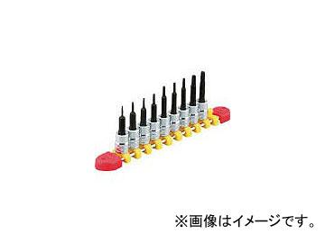 京都機械工具/KTC 6.3sq.T型トルクスビットソケットセット[9コ組] TBT209T(3839443) JAN:4989433149578