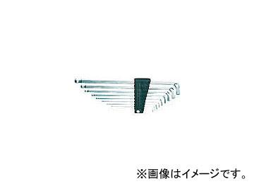 京都機械工具/KTC ボールポイントL型ロング六角棒レンチセット首下ショートタイプ[9本組] HLDS2509(3735460) JAN:4989433830506