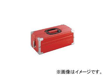 送料無料 前田金属工業 TONE 新作多数 ツールケース メタル V形2段式 3904351 433×220×160mm BX322S レッド 新品 JAN:4953488220513