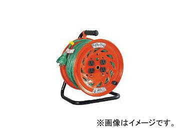 日動工業/NICHIDO 特殊機能付電工ドラム アースチェックリール アース付 30m GNFE34(2098792) JAN:4937305031841