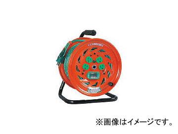 日動工業/NICHIDO 特殊機能付電工ドラム アースチェックリール アース漏電しゃ断器付 30m GNFEB34(2098806) JAN:4937305031858