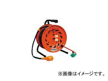 日動工業/NICHIDO 電工ドラム びっくリール 100V アース付 30m RNDE30S(1255568) JAN:4937305002537