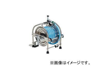 ハタヤリミテッド/HATAYA ステンレス(SUS304)ホースリール 20m耐圧ホース レバーノズル付 SSA20P(1065190) JAN:4930510418124