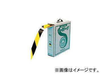 日本緑十字社 GTH-501TR 再剥離タイプ 50mm幅×100m 黄・黒色 149036(3632016) JAN:4932134130369