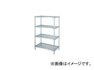 シンコー/SHINKOHIR ステンレスラックスノコ棚4段 RS415045