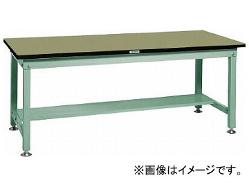 トラスコ中山/TRUSCO RHW型作業台 1500×750×H740 RHW1500 GN(2409101) JAN:4989999638684