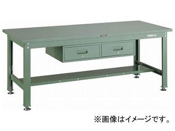トラスコ中山/TRUSCO SHW型作業台 1800×750×H740 2列引出付 SHW1800FL2 GN(2891867) JAN:4989999642209