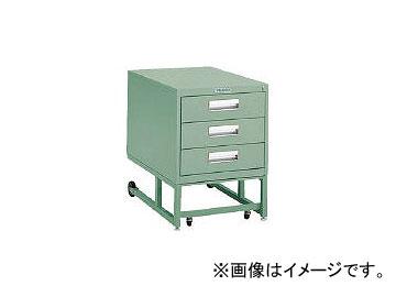 トラスコ中山/TRUSCO BCD型作業台用ワゴン 引出3段 H620 グリーン BCD1D3(2401452) JAN:4989999799064