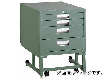 トラスコ中山/TRUSCO BCD型作業台用ワゴン 引出4段 H620 グリーン BCD1D4(2401479) JAN:4989999799071