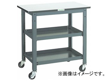 トラスコ中山/TRUSCO WHT型作業台補助テーブルワゴン 600×600×H740 WHT6060(3012816) JAN:4989999582932