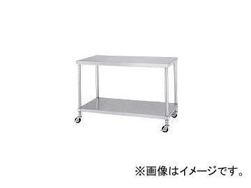 シンコー/SHINKOHIR ステンレス作業台ベタ棚キャスター付 ABC15075