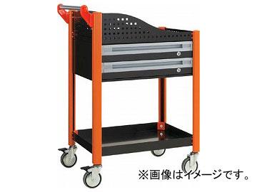 トラスコ中山/TRUSCO カスタムワゴン 浅型2段引出・浅棚板付 ブラック TAC648AERBK(3361608) JAN:4989999010749