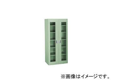 大阪製罐/OS ロッカーSアクリル扉付 両開 最大積載量600kg 棚板5枚 1800SA