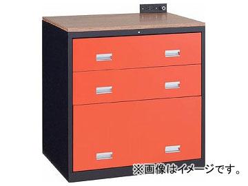 トラスコ中山/TRUSCO TWK型キャビネット 900×650×H920 3段 黒 TWK903S