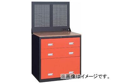 トラスコ中山/TRUSCO TWK型キャビネット 900×650 3段 Pパネル付 黒 TWK903SP