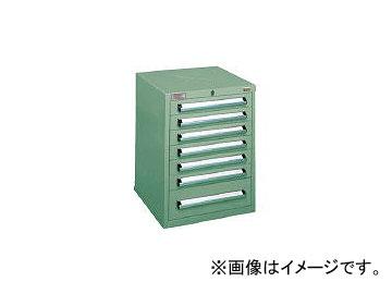 大阪製罐/OS ミゼットキャビネット 最大積載量140kg 引出し6×1段 M8