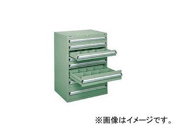 大阪製罐/OS 中量キャビネット7型 最大積載量1000kg 引出し5×2×1段 71010