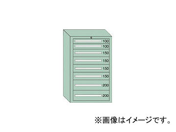 大阪製罐/OS 重量キャビネットDX型 最大積載量1500kg 引出し2×4×2段 DX1205