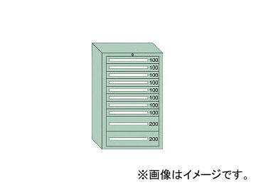 大阪製罐/OS 重量キャビネットDX型 最大積載量1500kg 引出し8×2段 DX1215