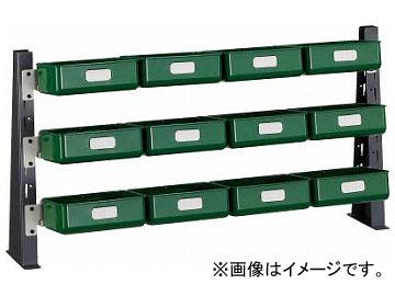 トラスコ中山/TRUSCO UPR型ライトビンラック卓上用 K-20H×12個 UPRML1803KL(3304574)