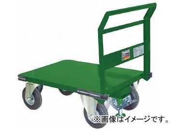 トラスコ中山/TRUSCO 鋼鉄製運搬車 プレス製空気入タイヤ・ストッパー付1200×750 SH1NARS