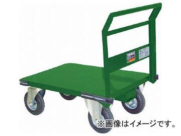 トラスコ中山/TRUSCO 鋼鉄製運搬車 プレス製空気入タイヤ付 900×600 SH2NAR
