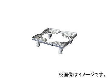 ルート工業/ROUTE コンテナ台車 ルートボーイ602AL型(アルミ) 最大410×510 602AL02