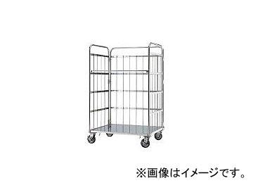 本庄厨房機器製作所 マイティー ロールボックスパレット 1100×800 SUSφ150ゴム車 MC4D