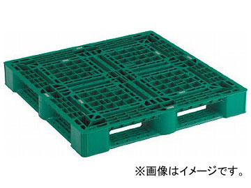 トラスコ中山/TRUSCO 樹脂パレット 片面4方差 1100×1100 緑 SLA1111NGN(4239423) JAN:4989999216479
