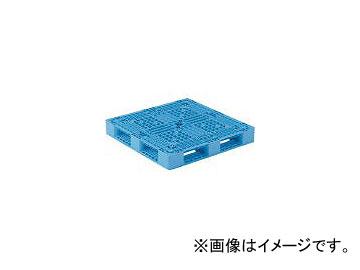 三甲/SANKO プラスチックパレット 1100×1100×150 青 SKD4111112BL