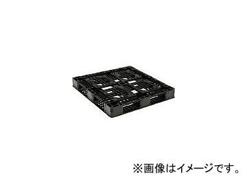 三甲/SANKO プラスチックパレット D4-1111-8 黒 SKD411118BK