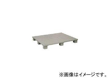 日本プラパレット プラスチックパレットSX120100E4 単面四方差し グレー SX120100E4