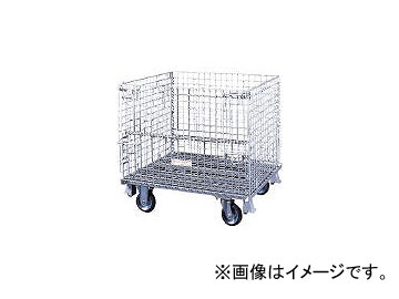 サンキン/SANKIN メッシュパレット 130mmキャスター付 SC15S