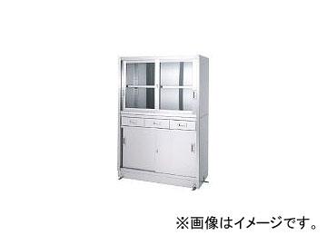 シンコー/SHINKOHIR ステンレス保管庫引出付上部ガラス戸下部ステンレス戸ベース仕様 VDG18060