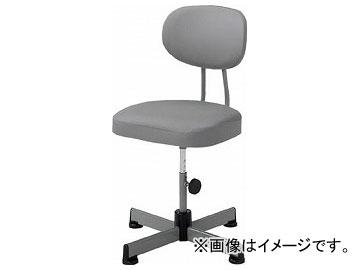 トラスコ中山/TRUSCO 事務椅子 ビニールレザー張り キャスター無 グレー L90Z(5035732) JAN:4989999755404