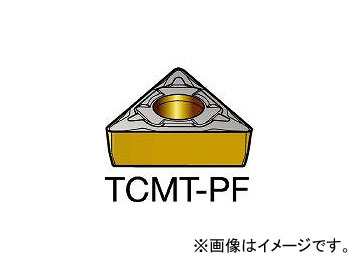 サンドビック/SANDVIK コロターン107 旋削用ポジ・チップ 5015 TCMT110302PF 5015(6106765) 入数:10個